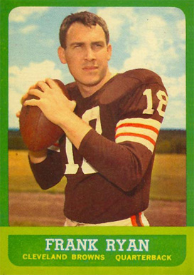 1963 Topps Frank Ryan #13 Football Card