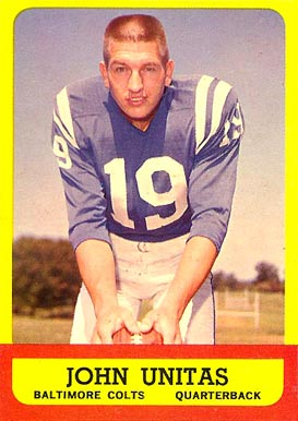 1963 Topps Johnny Unitas #1 Football Card