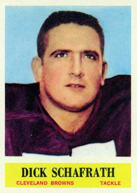 1964 Philadelphia Dick Schafrath #40 Football Card