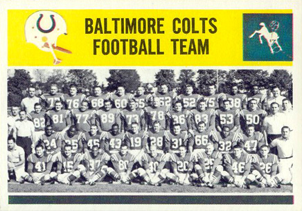 1964 Philadelphia Baltimore Colts Team #13 Football Card