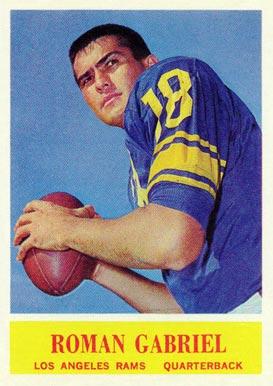 Football Card VG//EX Rams 1972 Topps # 128 Pro Action Roman Gabriel Los Angeles Rams