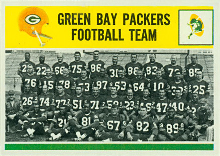 1964 Philadelphia Green Bay Packers Team #83 Football Card