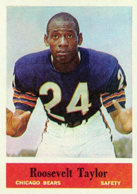 1964 Philadelphia Roosevelt Taylor #25 Football Card