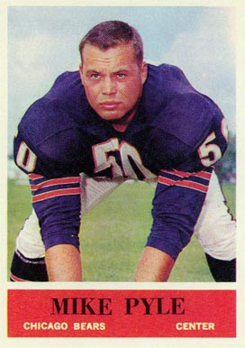 1964 Philadelphia Mike Pyle #24 Football Card