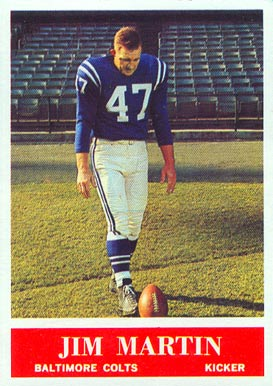1964 Philadelphia Jim Martin #5 Football Card