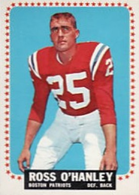 1964 Topps Ross O'Hanley #16 Football Card