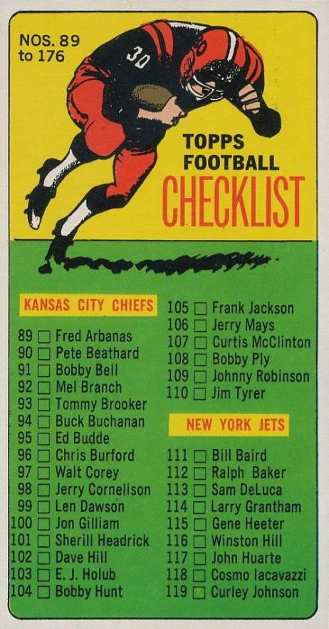 1965 Topps   #176 Football Card