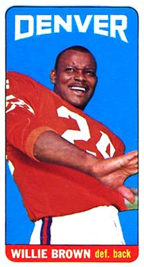 1965 Topps Willie Brown #46 Football Card
