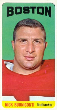 1965 Topps Nick Buoniconti #3 Football Card
