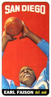 1965 Topps Earl Faison #158 Football Card