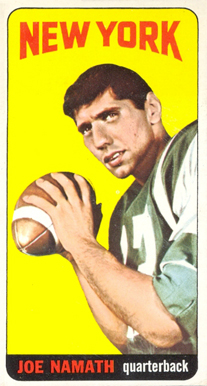 1965 Topps Joe Namath #122 Football Card