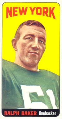 1965 Topps Ralph Baker #112 Football Card
