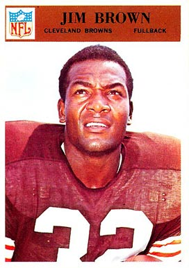 1966 Philadelphia Jim Brown #41 Football Card