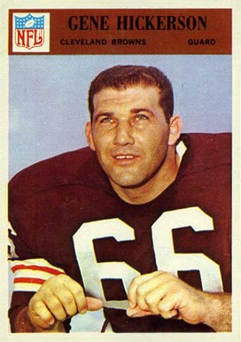 1966 Philadelphia Gene Hickerson #45 Football Card