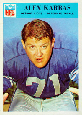 1966 Philadelphia Alex Karras #69 Football Card