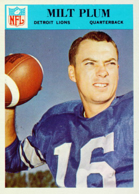 1966 Philadelphia Milt Plum #72 Football Card