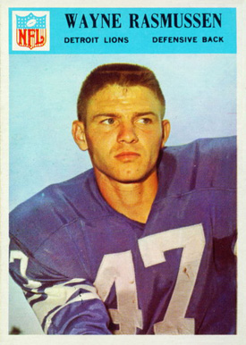 1966 Philadelphia Wayne Rasmssen #74 Football Card