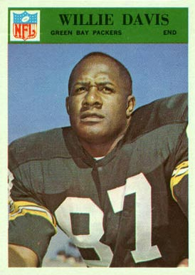 1966 Philadelphia Willie Davis #83 Football Card