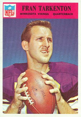 1966 Philadelphia Fran Tarkenton #114 Football Card