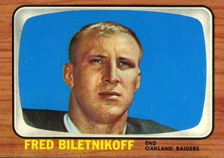 1966 Topps Fred Biletnikoff #104 Football Card