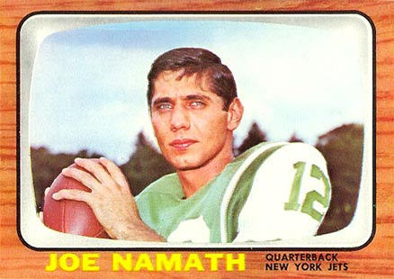 1966 Topps Joe Namath #96 Football Card