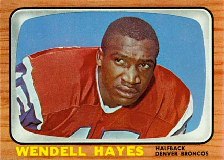 1966 Topps Wendell Hayes #34 Football Card