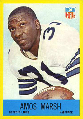 1967 Philadelphia Amos Marsh #68 Football Card