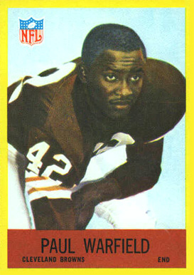 1967 Philadelphia Paul Warfield #46 Football Card