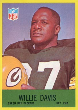 1967 Philadelphia Willie Davis #76 Football Card