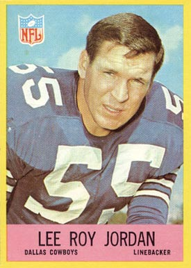 1967 Philadelphia Lee Roy Jordan #54 Football Card