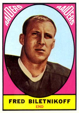 1967 Topps Fred Biletnikoff #106 Football Card