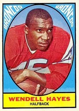 1967 Topps Wendell Hayes #36 Football Card