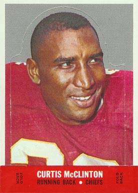 1968 Topps Stand-ups Curtis McClinton #15 Football Card
