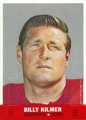 1968 Topps Stand-ups Bill Kilmer #12 Football Card