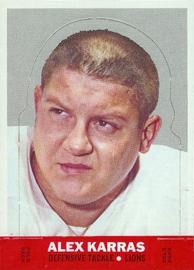 1968 Topps Stand-ups Alex Karras #11 Football Card