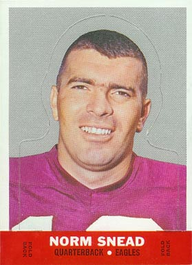 1968 Topps Stand-ups Norm Snead #22 Football Card