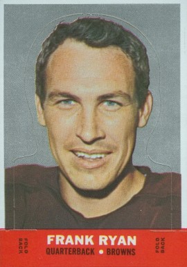 1968 Topps Stand-ups Frank Ryan #21 Football Card