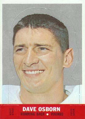 1968 Topps Stand-ups Dave Osborn #19 Football Card