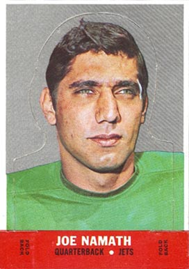 1968 Topps Stand-ups Joe Namath #17 Football Card