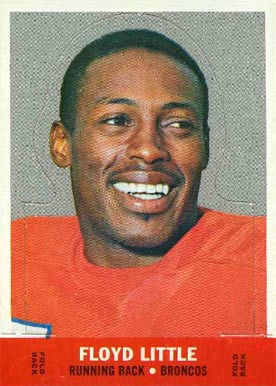 1968 Topps Stand-ups Floyd Little #14 Football Card