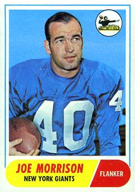 1968 Topps Joe Morrison #211 Football Card