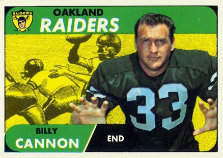 1968 Topps Billy Cannon #37 Football Card