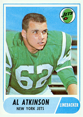 1968 Topps Al Atkinson #195 Football Card