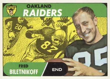 1968 Topps Fred Biletnikoff #168 Football Card