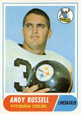 1968 Topps Andy Russell #163 Football Card