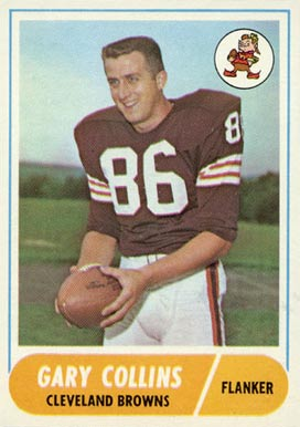 1968 Topps Gary Collins #128 Football Card