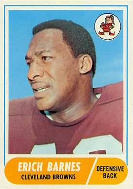 1968 Topps Erich Barnes #102 Football Card