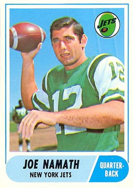1968 Topps Joe Namath #65 Football Card