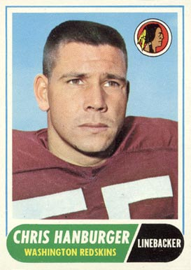 1968 Topps Chris Hanburger #62 Football Card