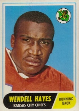 1968 Topps Wendell Hayes #40 Football Card